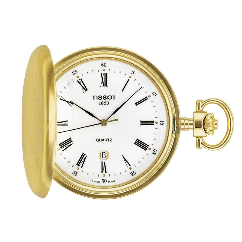 Tissot Savonnette Gold Tone Pocket Watch