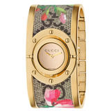 Gucci Twirl Blooms Gold Plated Ladies Watch