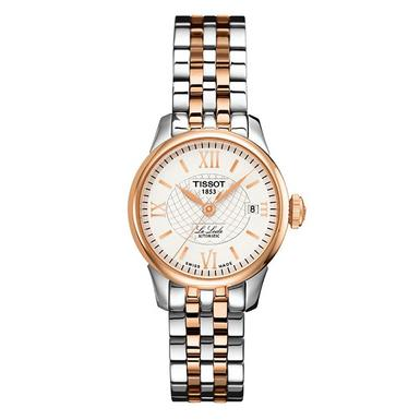 Tissot Le Locle Rose Gold Plated and Stainless Steel Automatic Ladies Watch