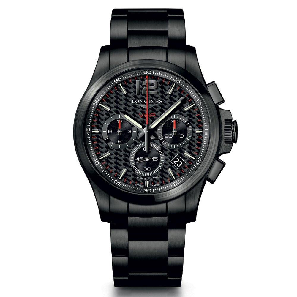 Longines Conquest V.H.P Black PVD Chronograph Men's Watch