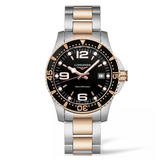 Longines Hydroconquest Stainless Steel and Rose Gold PVD Men's Watch