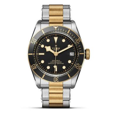 TUDOR Heritage Black Bay Steel and Gold Automatic Men's Watch