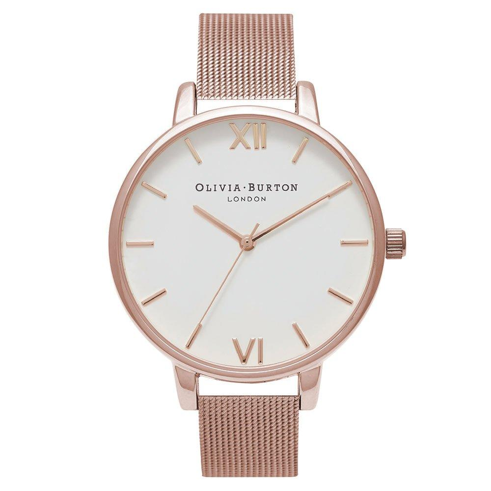 Olivia Burton Big Dial Rose Gold Plated Mesh Ladies Watch