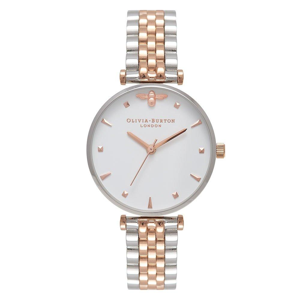 Olivia Burton Queen Bee Silver And Rose Gold Plated Ladies Watch