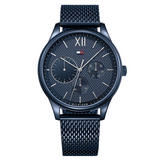 Tommy Hilfiger Damon Blue Ion Plated Mesh Men's Watch