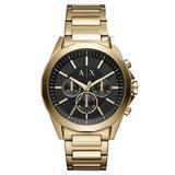 Armani Exchange Gold Tone Chronograph Men's Watch