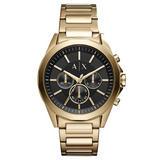 Armani Exchange Gold Tone Chronograph Men's Watch