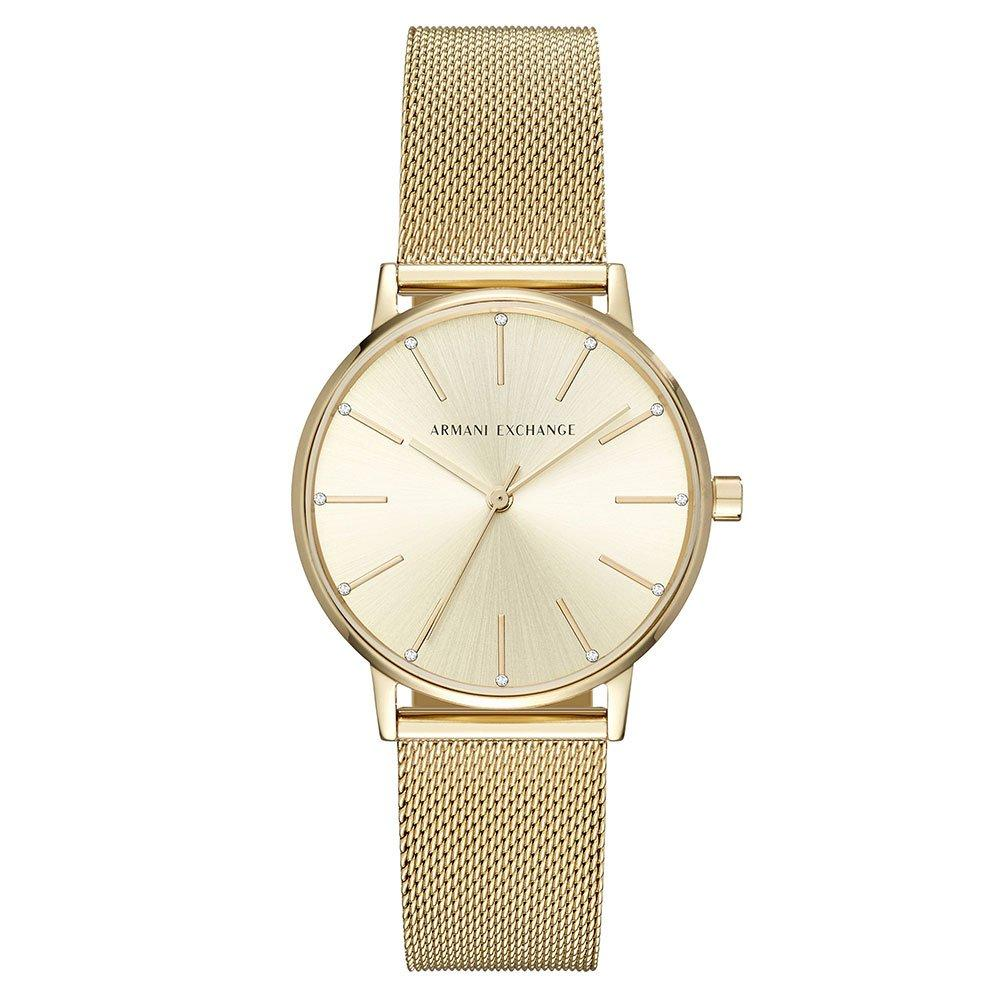 Armani Exchange Gold Tone Ladies Watch