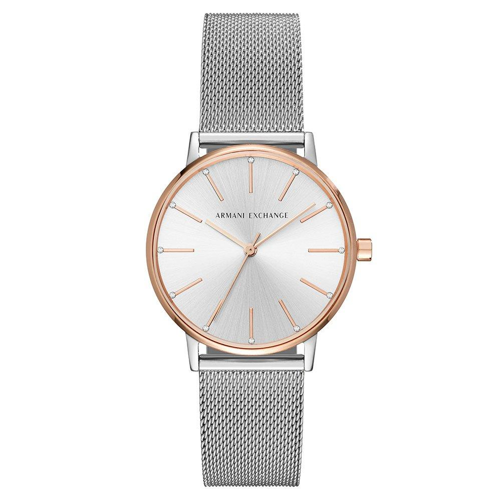 Armani Exchange Rose Gold Tone and Stainless Steel Ladies Watch