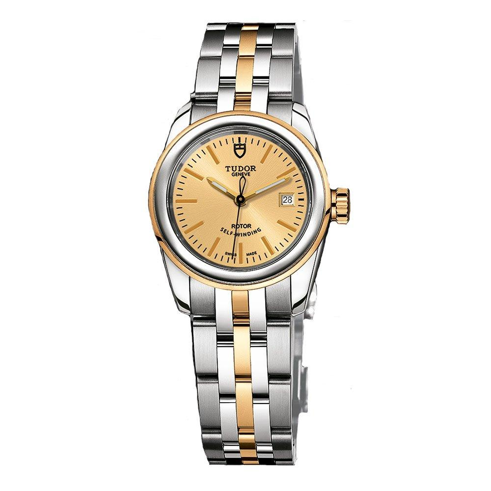 Tudor Glamour Date Steel and Gold Automatic Ladies Watch