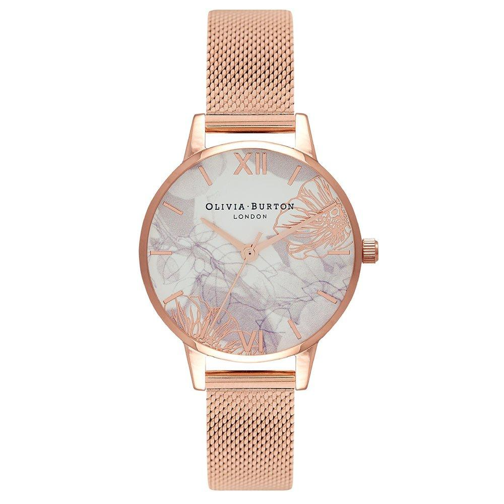 Olivia Burton Abstract Florals Rose Gold Tone Ladies Watch