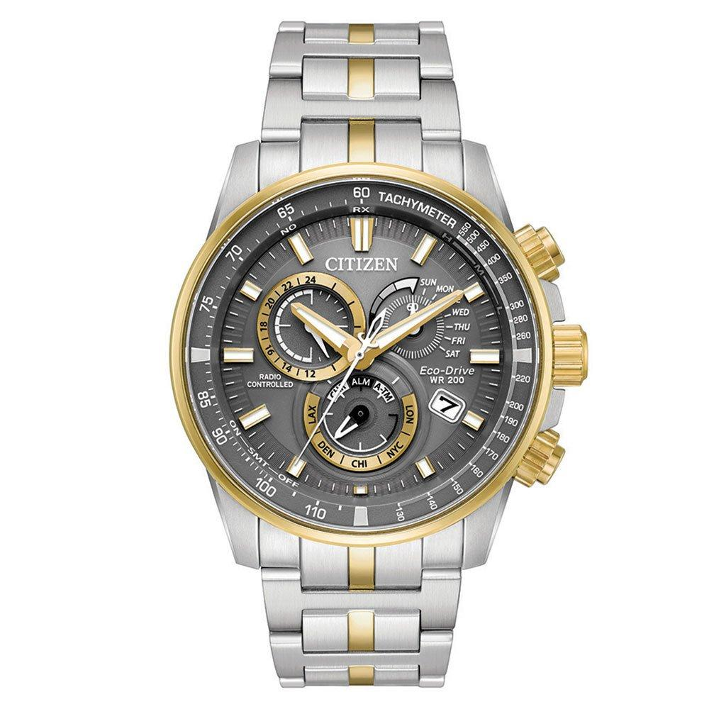 Citizen Eco-drive Gold Tone and Stainless Steel Chronograph Men's Watch