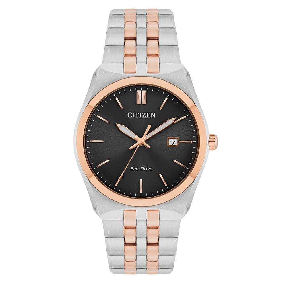 Citizen Eco-Drive Rose Gold Tone and Stainless Steel Men's Watch