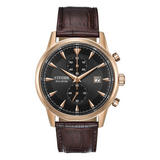Citizen Corso Eco-Drive Rose Gold Plated Chronograph Men's Watch