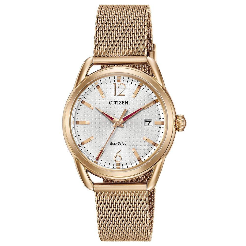Citizen Eco-Drive Gold Plated Mesh Ladies Watch