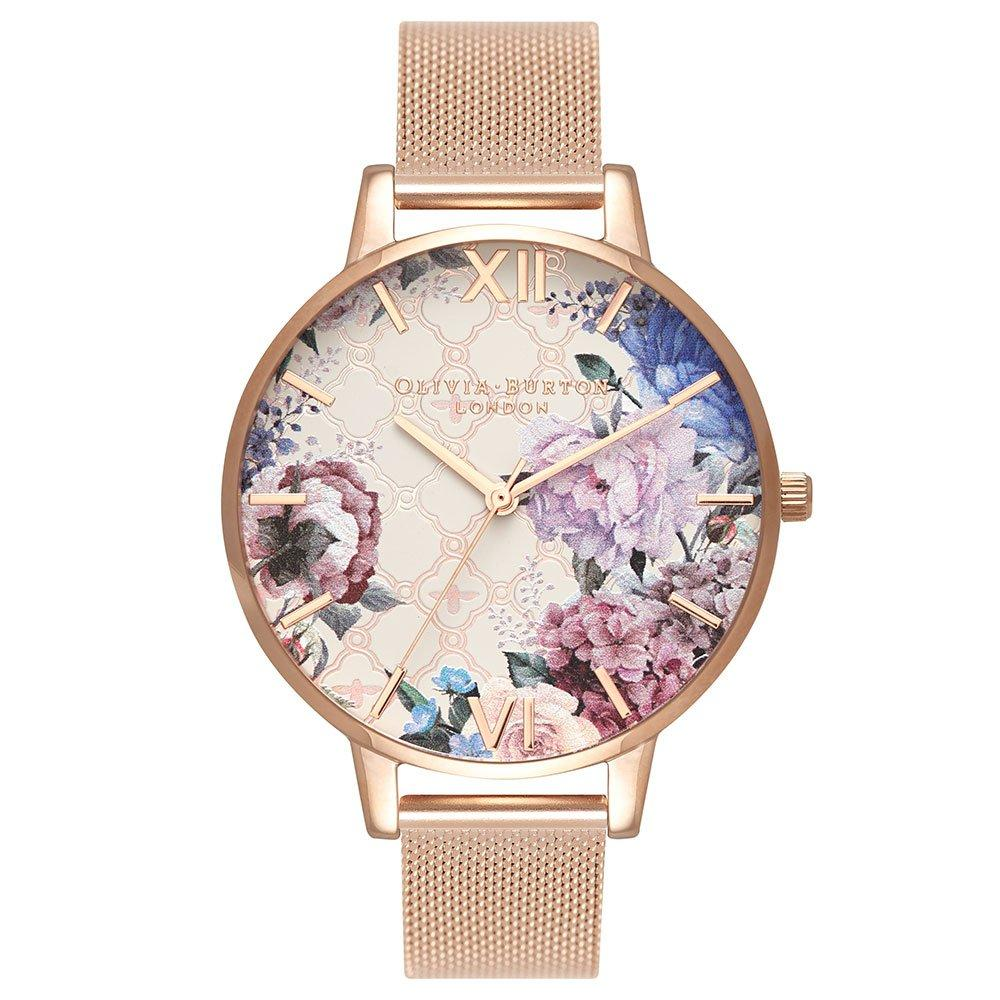 Olivia Burton Glasshouse Rose Gold Plated Mesh Ladies Watch