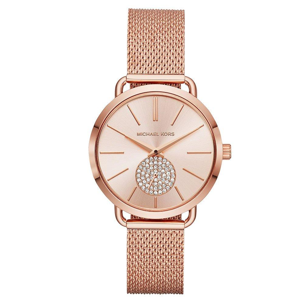 Michael Kors Portia Rose Gold Tone Mesh Ladies Watch
