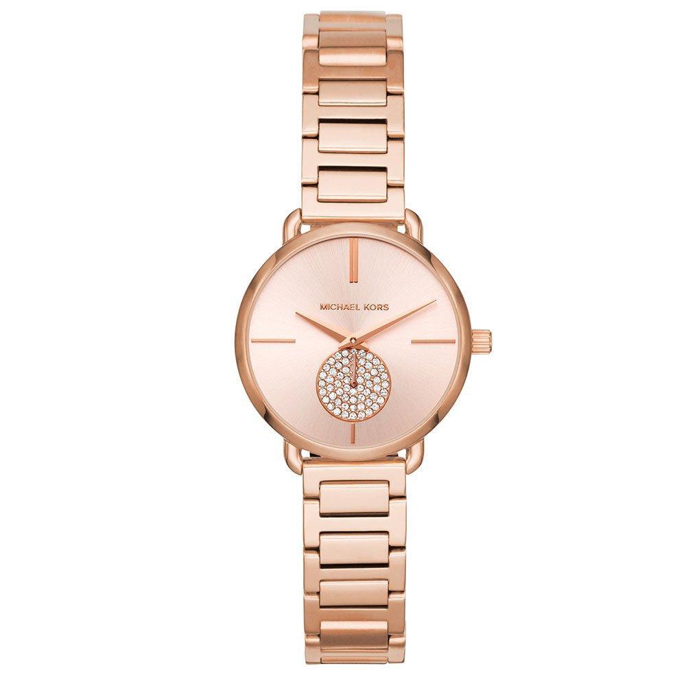 Michael Kors Mini Portia Rose Gold Tone Ladies Watch