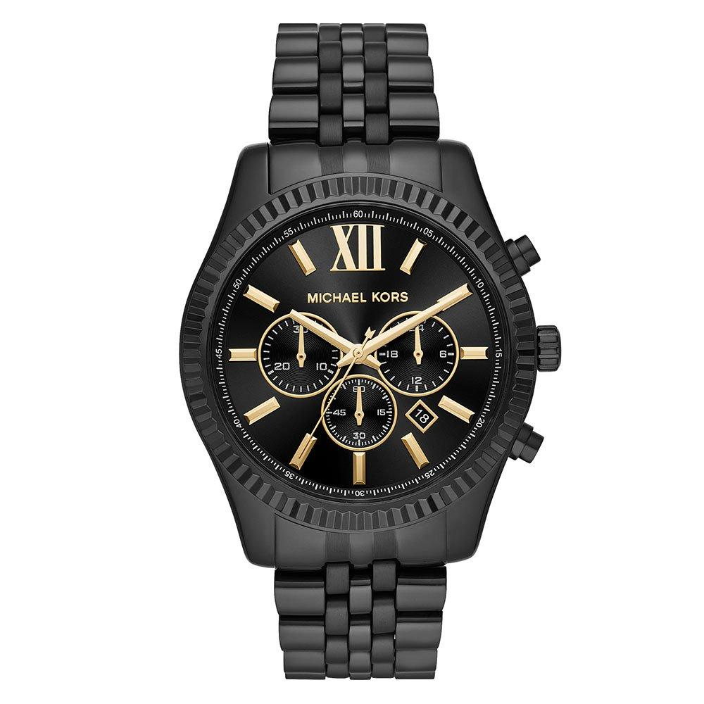 Michael Kors Lexington Black Ion Plated Chronograph Men's Watch