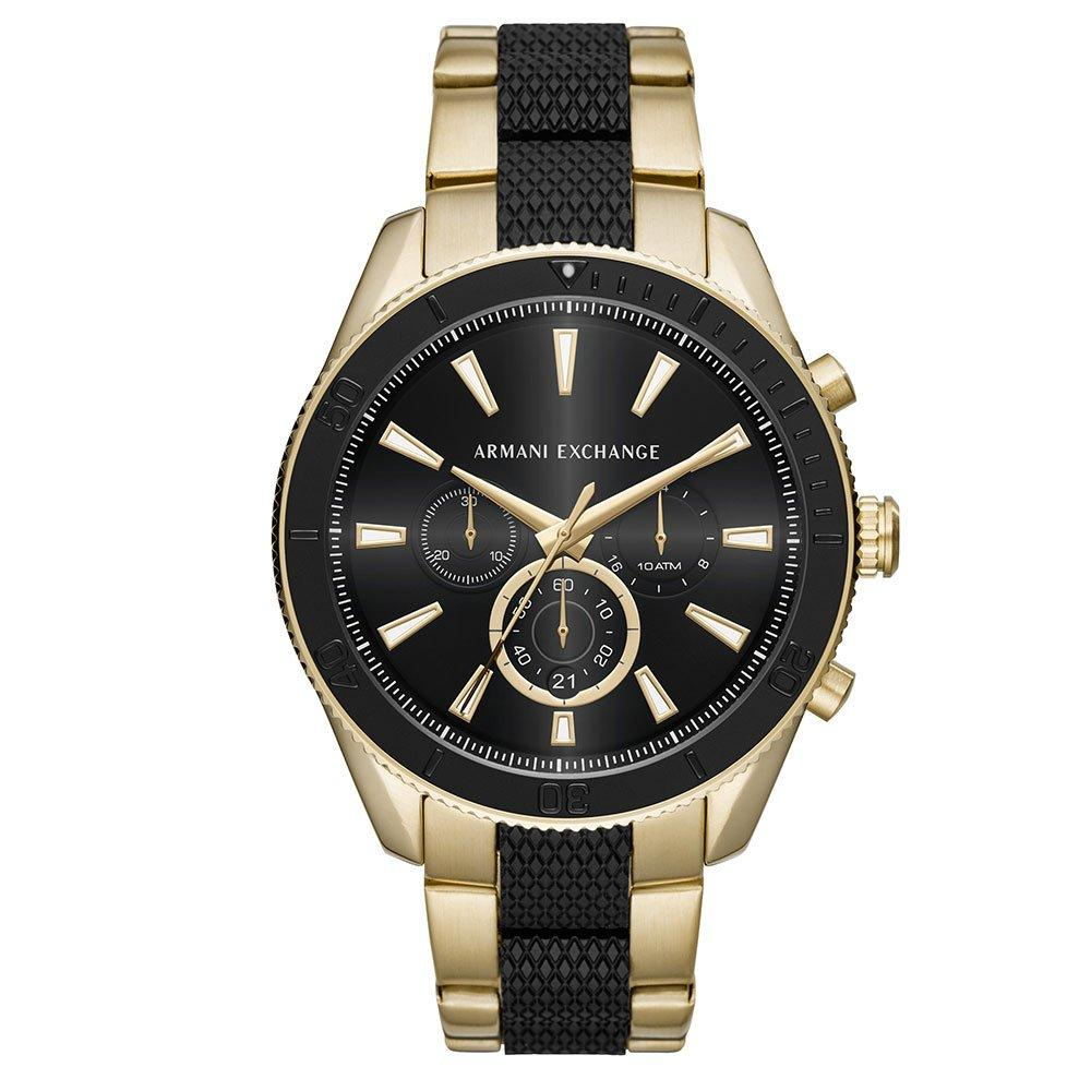 Armani Exchange Gold Tone and Black Ion Plated Chronograph Men's Watch
