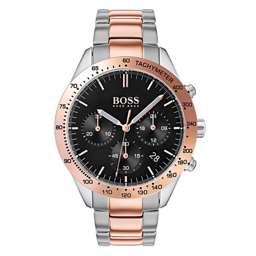 BOSS Talent Rose Gold Tone and Stainless Steel Chronograph Men's Watch