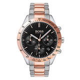 Hugo Boss Talent Rose Gold Tone and Stainless Steel Chronograph Men's Watch