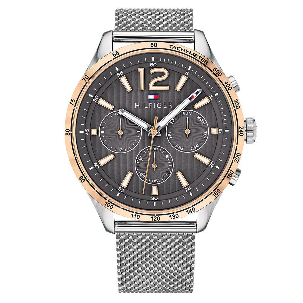Tommy Hilfiger Rose Gold Tone and Stainless Steel Mesh Men's Watch
