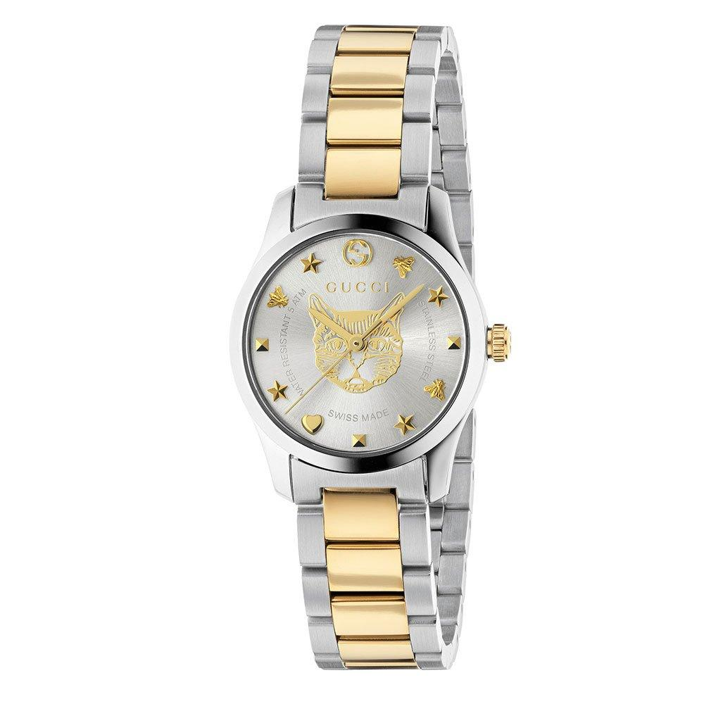 Gucci G-Timeless Mystic Cat Steel and Gold PVD Ladies Watch