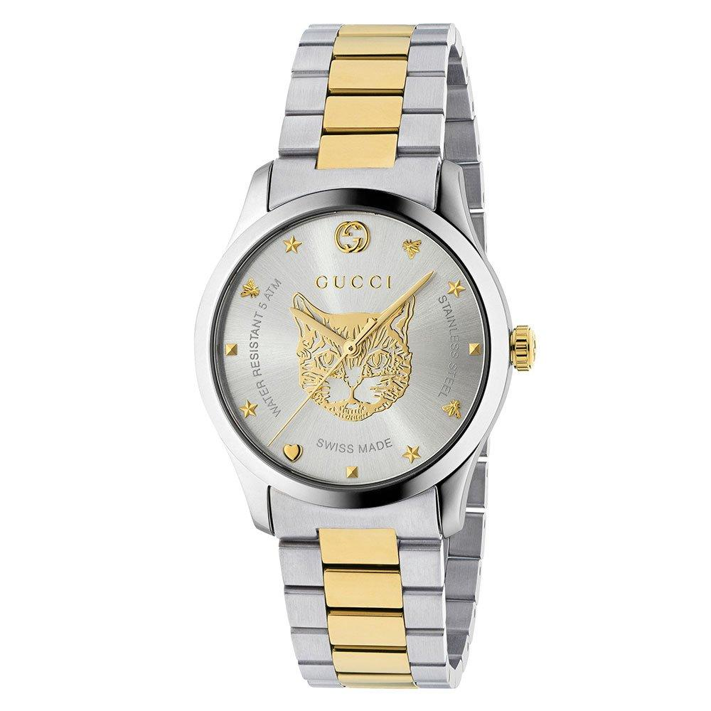 Gucci G-Timeless Mystic Cat Steel and Gold PVD Men's Watch