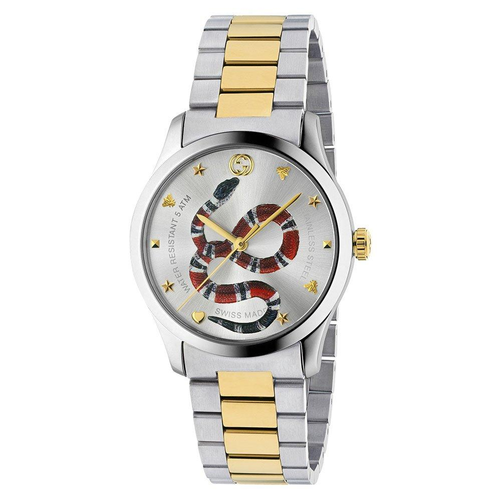 Gucci Gold Tone and Stainless Steel Men's Watch
