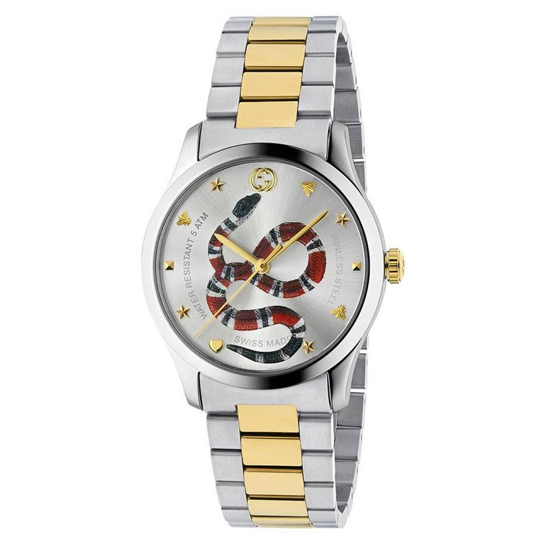Gucci G-Timeless Snake Steel and Gold PVD Men's Watch