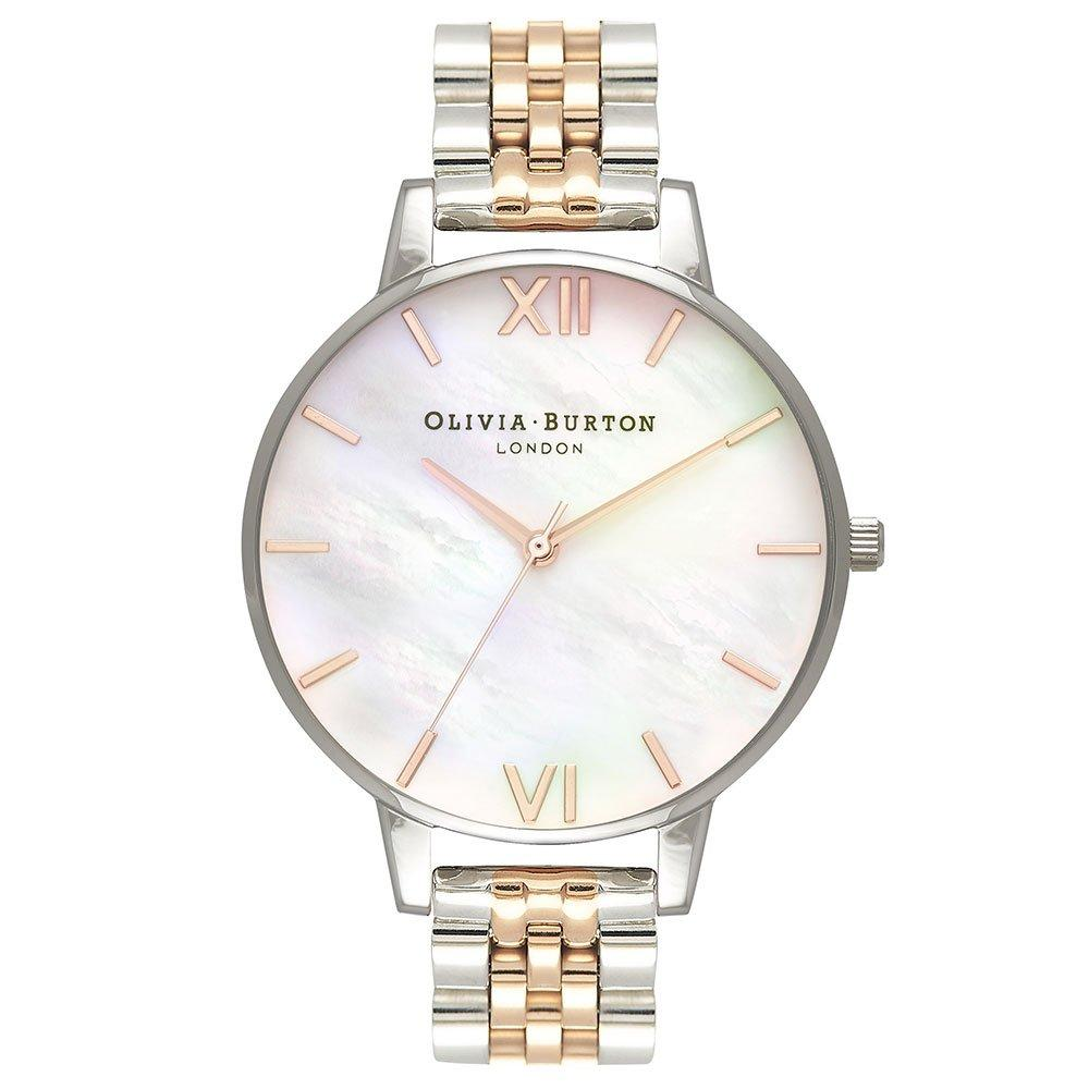 Olivia Burton Mother of Pearl Steel and Rose Gold Tone Ladies Watch