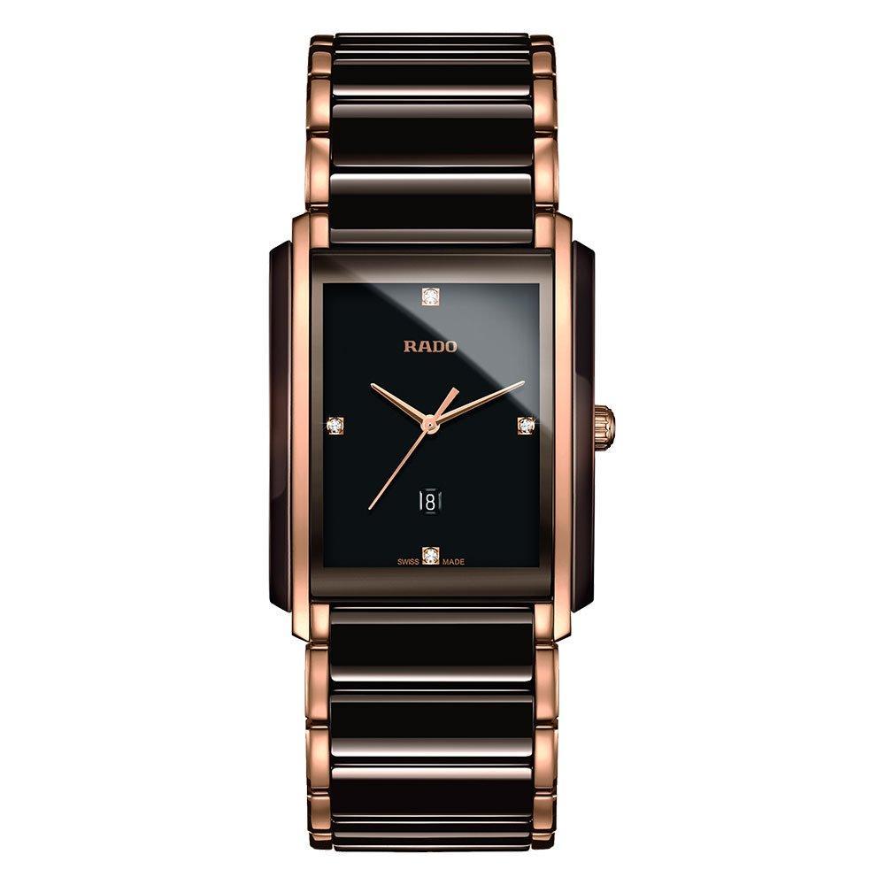 Rado Integral High Tech Ceramic and Rose Gold Tone Diamond Ladies Watch