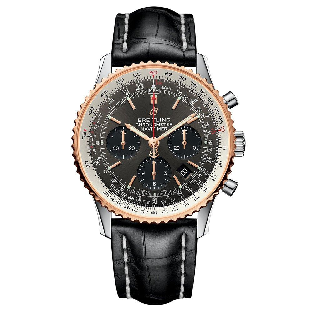 Breitling Navitimer 1 Stainless Steel and Rose Gold B01 Automatic Chronograph Men's Watch