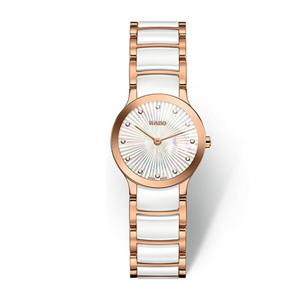 Rado Centrix Rose Gold Tone Diamond Ladies Watch