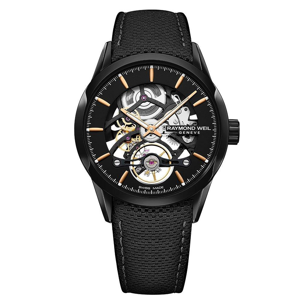 Raymond Weil Freelancer Skeleton Black PVD Automatic Men's Watch