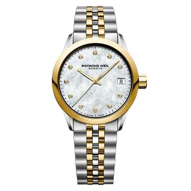 Raymond Weil Freelancer Gold Plated and Stainless Steel Diamond Ladies Watch