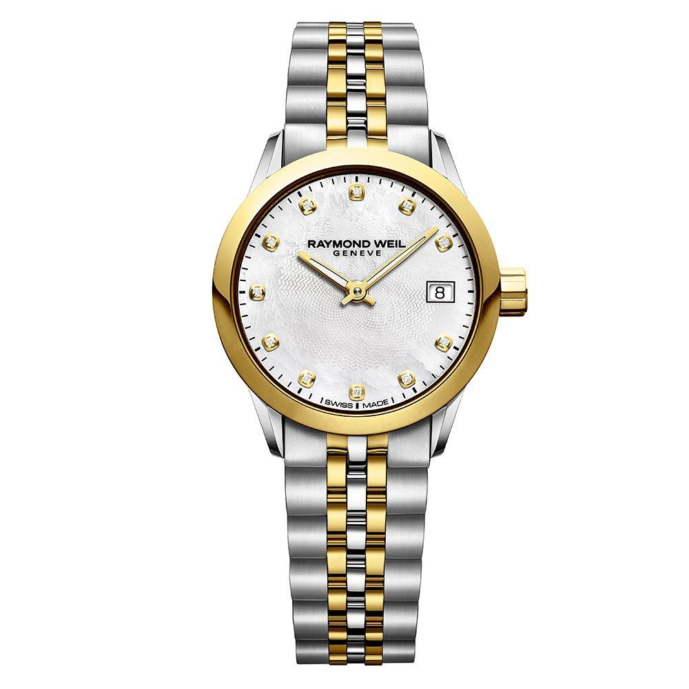 Raymond Weil Mini Freelancer Stainless Steel and Gold PVD Plated Diamond Ladies Watch