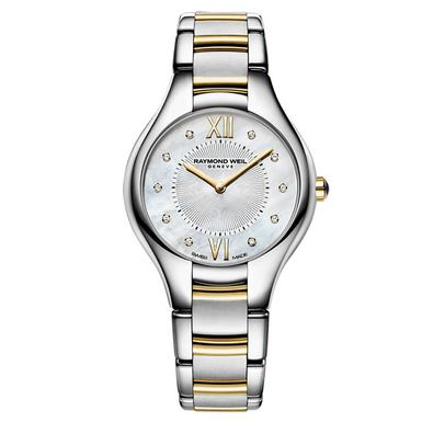 Raymond Weil Noemia Rose Gold Plated and Stainless Steel Diamond Ladies Watch