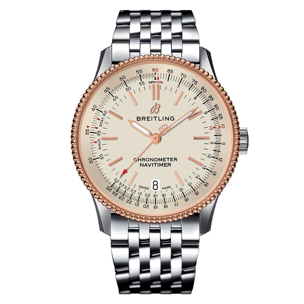 Breitling Navitimer 1 Stainless Steel and Rose Gold Plated Chronometer Automatic Watch