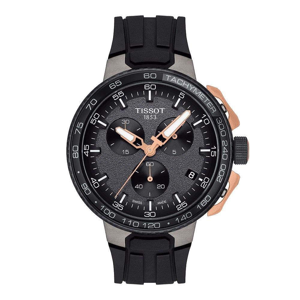 Tissot T-Race Cycling Rose Gold Plated and Black Steel Chronograph Men's Watch