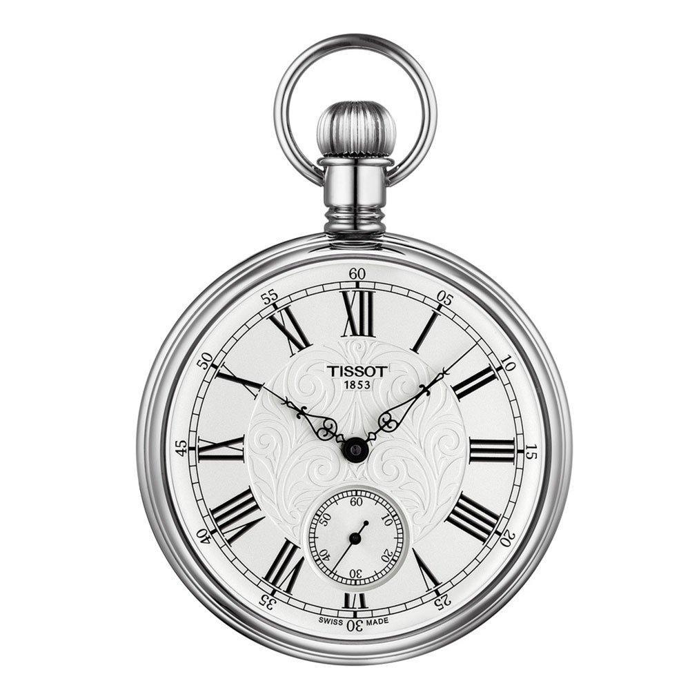 Tissot Lepine Palladium Plated Mechanical Pocket Watch