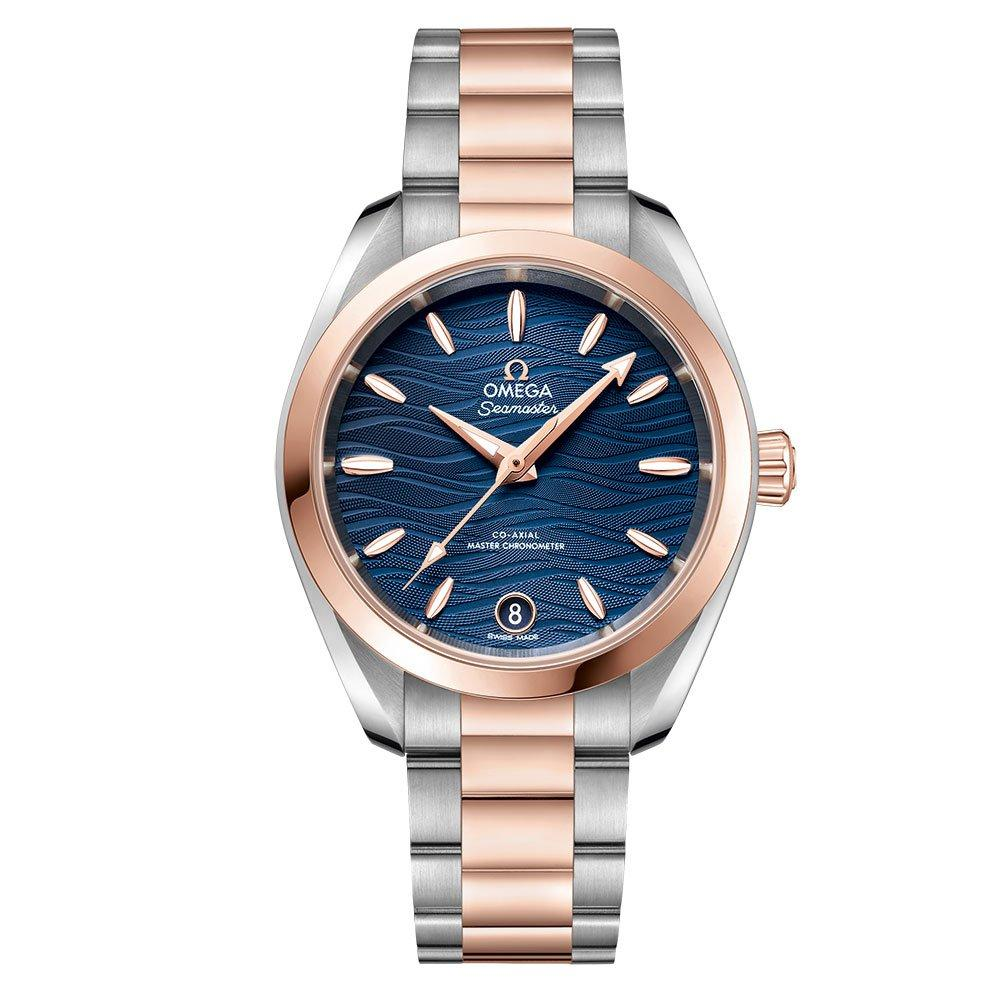 OMEGA Seamaster AquaTerra Steel and 18ct Sedna Gold Automatic Ladies Watch