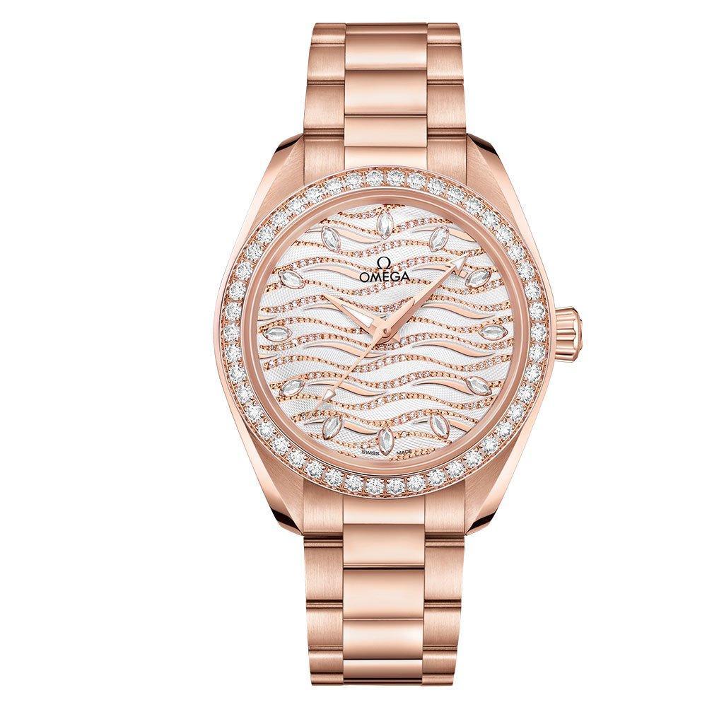 OMEGA Seamaster Aqua Terra Sedna Gold Diamond Automatic Ladies Watch