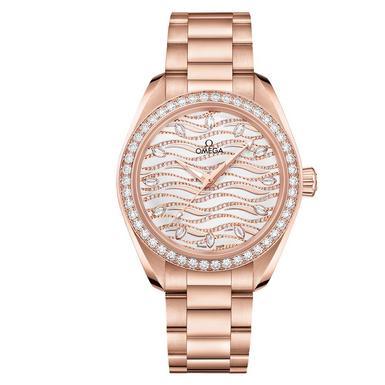 OMEGA Seamaster AquaTerra 18ct Sedna Gold Automatic Diamond Ladies Watch