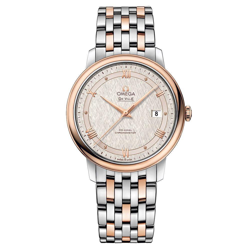 OMEGA De Ville Prestige Steel and 18ct Sedna Gold Automatic Men's Watch