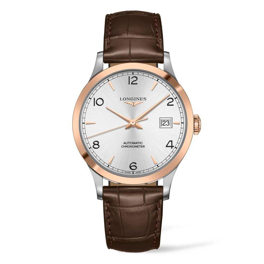 Longines Record Rose Gold Plated Automatic Chronometer Men's Watch