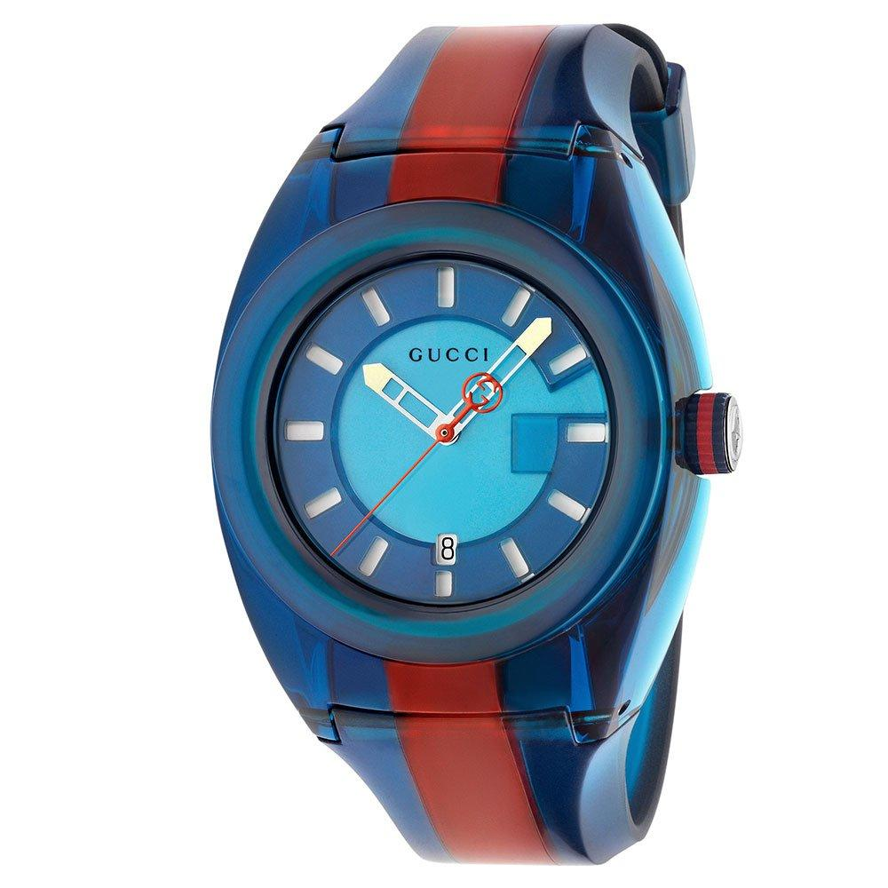 Gucci Sync Blue and Red Rubber Watch