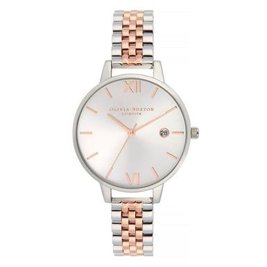 Olivia Burton Two Tone Steel And Rose Gold Plated Ladies Watch