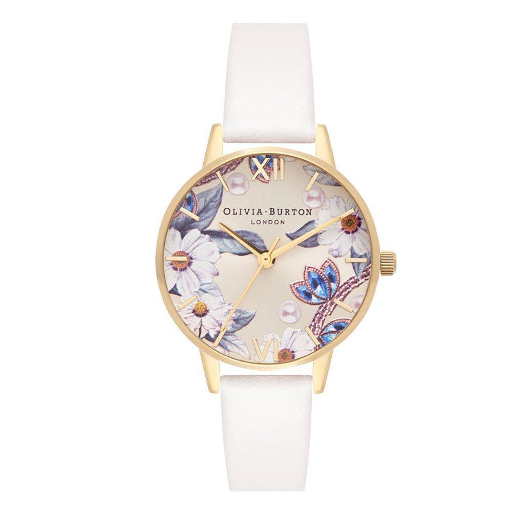 Olivia Burton Gold Plated Vegan Bejewelled Floral Watch